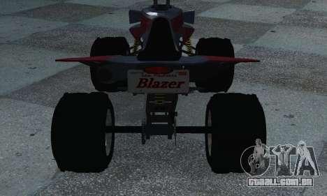 GTA 5 Blazer ATV para GTA San Andreas traseira esquerda vista