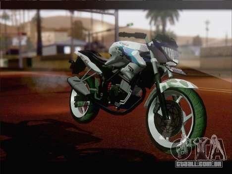Honda CB150R StreetFire para GTA San Andreas esquerda vista