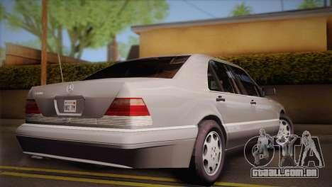 Mercedes-Benz S600 V12 Custom para GTA San Andreas esquerda vista