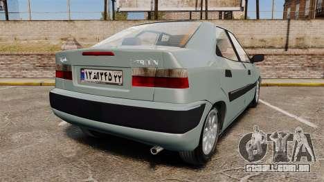 Citroen Xantia 1999 para GTA 4 traseira esquerda vista