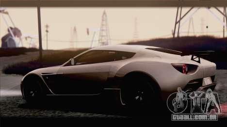 Aston Martin V12 Zagato 2012 [IVF] para GTA San Andreas vista direita