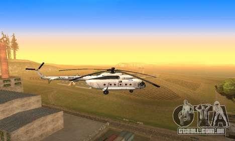 MI 8 das Nações Unidas (ONU) para GTA San Andreas vista traseira