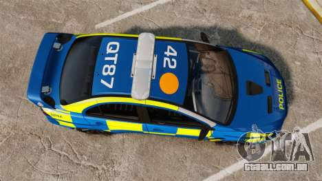 Mitsubishi Lancer Evo X Humberside Police [ELS] para GTA 4 vista direita