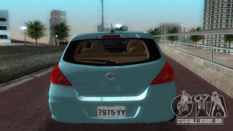 Nissan Tiida para GTA Vice City vista direita