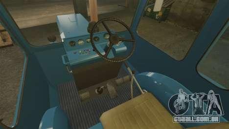 Trator MTZ-80 para GTA 4 vista interior