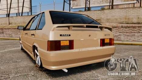 Vaz-2114 para GTA 4 traseira esquerda vista