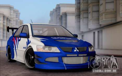 Mitsubishi Lancer Evolution IIIX para GTA San Andreas vista interior