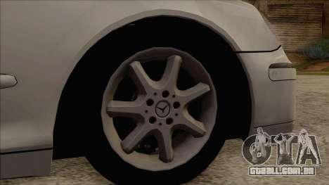 Mercedes-Benz W220 S500 4matic para GTA San Andreas traseira esquerda vista