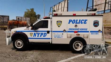Ford F-550 2012 NYPD [ELS] para GTA 4 esquerda vista