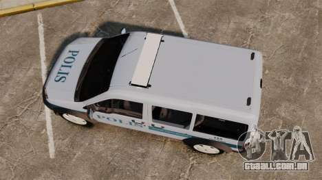 Ford Transit Connect Turkish Police [ELS] para GTA 4 vista direita