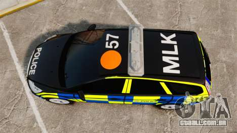 Ford Focus Estate 2009 Police England [ELS] para GTA 4 vista direita
