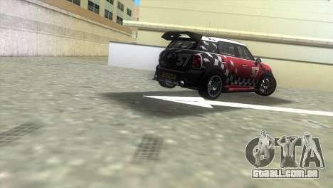 Mini Countryman WRC para GTA Vice City vista traseira esquerda