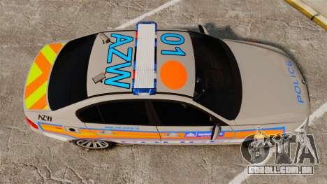 BMW 330 Metropolitan Police [ELS] para GTA 4 vista direita