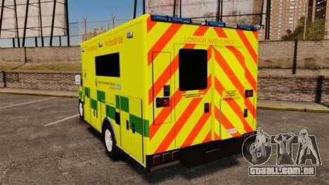 Mercedes-Benz Sprinter [ELS] London Ambulance para GTA 4 traseira esquerda vista