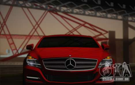 Mercedes-Benz CLS 63 AMG 2012 Fixed para GTA San Andreas vista superior