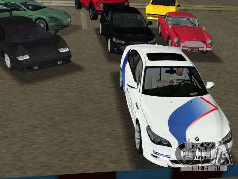BMW M5 (E60) 2009 Nurburgring Ring Taxi para GTA Vice City vista direita