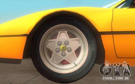 Ferrari 328 GTB para GTA San Andreas traseira esquerda vista