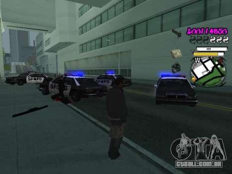 HUD para GTA San Andreas sétima tela