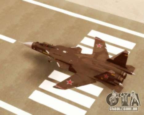 Su-47 Berkut v 1.0 para GTA San Andreas vista direita
