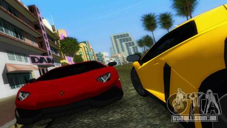 Lamborghini Aventador LP720-4 50th Anniversario para GTA Vice City vista traseira
