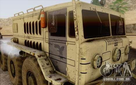 MAZ 535 branco para GTA San Andreas traseira esquerda vista