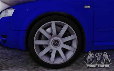 Audi A4 2005 Avant 3.2 Quattro Open Sky para GTA San Andreas traseira esquerda vista