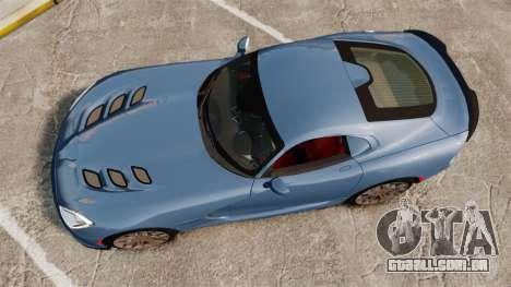 Dodge Viper SRT TA 2014 Rebuild para GTA 4 vista direita