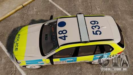 BMW X5 Police [ELS] para GTA 4 vista direita