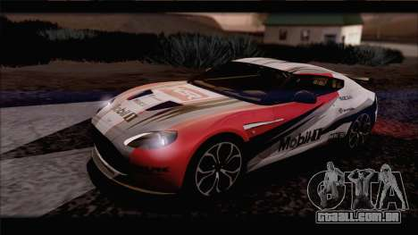 Aston Martin V12 Zagato 2012 [IVF] para GTA San Andreas vista interior