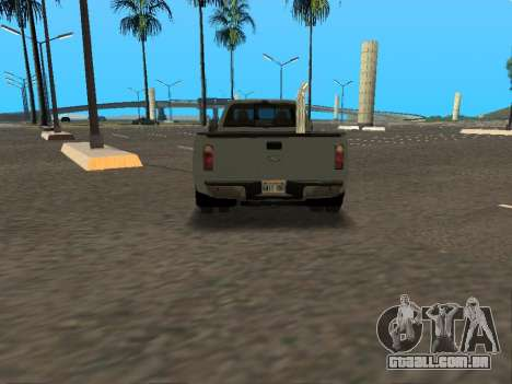 Ford F-350 para GTA San Andreas vista interior