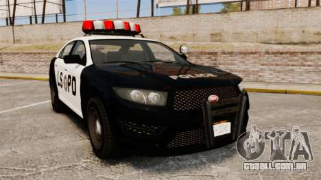 GTA V Vapid Police Interceptor LSPD para GTA 4