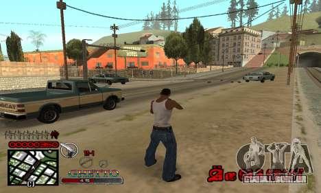 C-HUD Getto Jonka para GTA San Andreas terceira tela