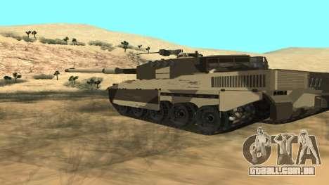 GTA V Rhino para GTA San Andreas traseira esquerda vista