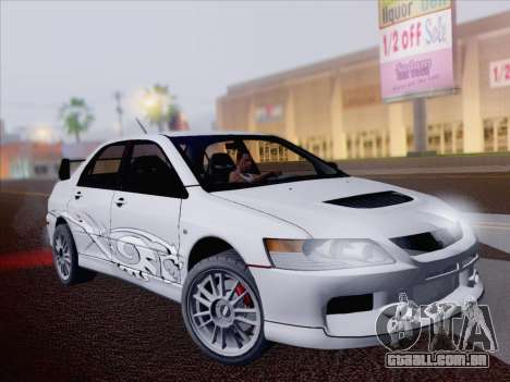 Mitsubishi Lancer Evo IX MR Edition para vista lateral GTA San Andreas