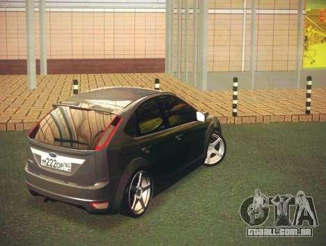Ford Focus 2009 LT para GTA San Andreas traseira esquerda vista