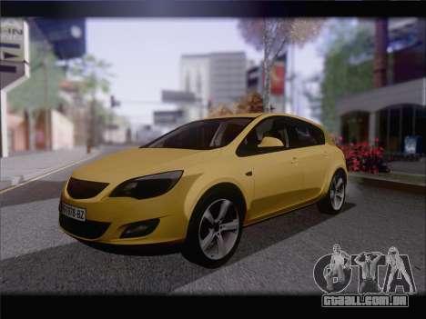 Opel Astra J 2011 para GTA San Andreas traseira esquerda vista