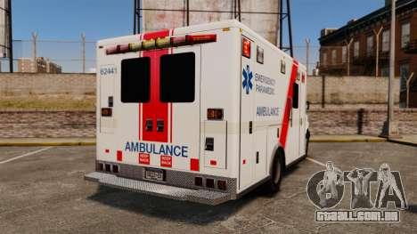 Brute B.C. Ambulance Service [ELS] para GTA 4 traseira esquerda vista