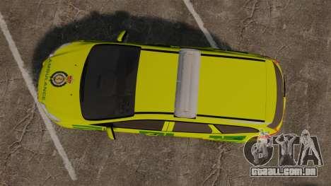 Ford Focus ST Estate 2012 [ELS] London Ambulance para GTA 4 vista direita