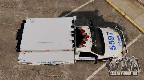 Ford F-550 2012 NYPD [ELS] para GTA 4 vista direita