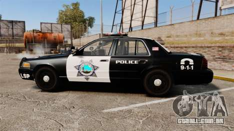 Ford Crown Victoria Liberty State Police para GTA 4 esquerda vista