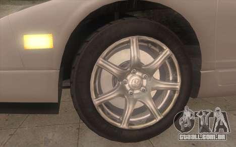 Acura NSX para GTA San Andreas traseira esquerda vista