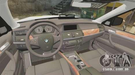 BMW X5 Police [ELS] para GTA 4 vista lateral