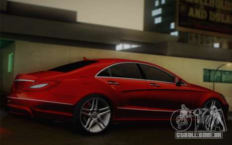 Mercedes-Benz CLS 63 AMG 2012 Fixed para GTA San Andreas vista traseira