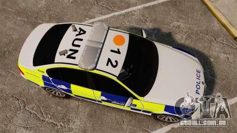 BMW 330i Metropolitan Police [ELS] para GTA 4 vista direita