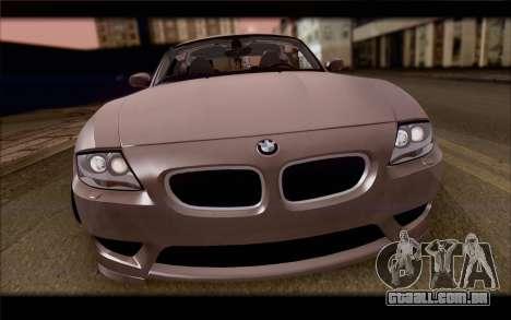 BMW Z4 Stance para GTA San Andreas vista traseira