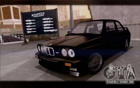 BMW M3 E30 Stock Version para vista lateral GTA San Andreas