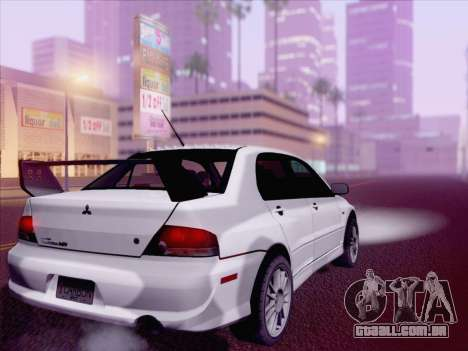 Mitsubishi Lancer Evo IX MR Edition para GTA San Andreas esquerda vista