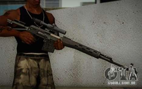 fuzil 7,62 Dragunov SVD-s para GTA San Andreas terceira tela