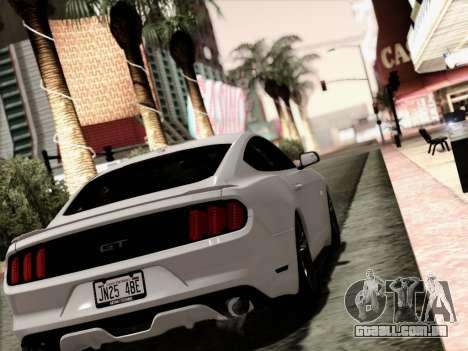 Ford Mustang GT 2015 v2 para GTA San Andreas esquerda vista