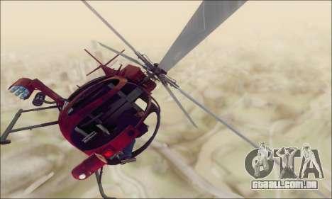 Helicóptero de ataque do abutre de GTA 5 para GTA San Andreas